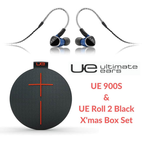UE 900s & Roll 2 Black X'mas Box Set 動鐵入耳式耳機連藍芽喇叭優惠套裝 - Ultimate Ears - In-Ear Headphones - ListenExpert Hong Kong Buy Headphones Bluetooth Speakers 購買耳機藍芽喇叭專門店