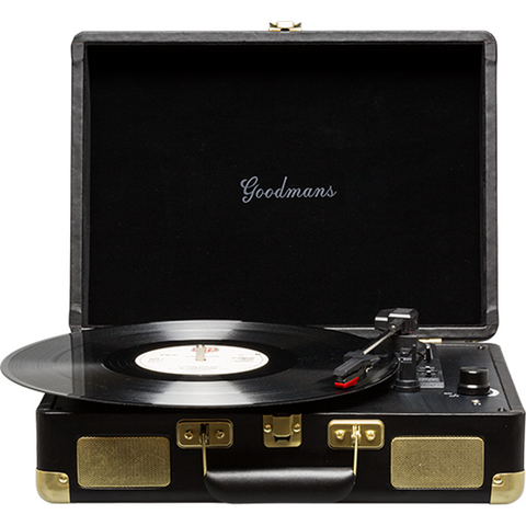 Goodmans Ealing Portable Suitcase Vinyl Turntable 手提黑膠唱盤 - Black - Goodmans - Vinyl Turntable - ListenExpert Hong Kong Buy Headphones Bluetooth Speakers 購買耳機藍芽喇叭專門店