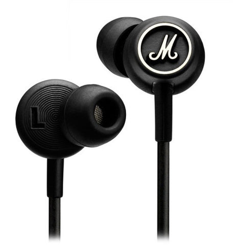 Marshall MODE Black and White In-Ear Headphones - Marshall - In-Ear Headphones - ListenExpert Hong Kong Buy Headphones Bluetooth Speakers 購買耳機藍芽喇叭專門店
