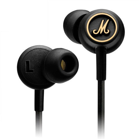 Marshall MODE EQ Black and Brass In-Ear Headphones - Marshall - In-Ear Headphones - ListenExpert Hong Kong Buy Headphones Bluetooth Speakers 購買耳機藍芽喇叭專門店