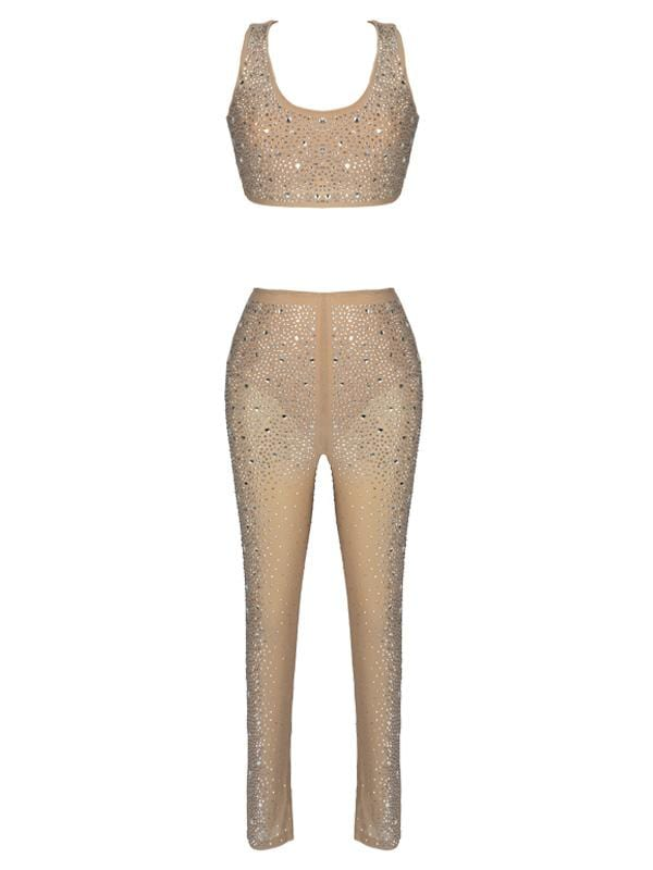 KOKO LATTE EMBELLISHED TROUSER SET
