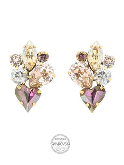 GRACE & LOVE MULTICOLOUR SWAROVSKI CRYSTAL EARRINGS - HOUSE OF MAGUIE