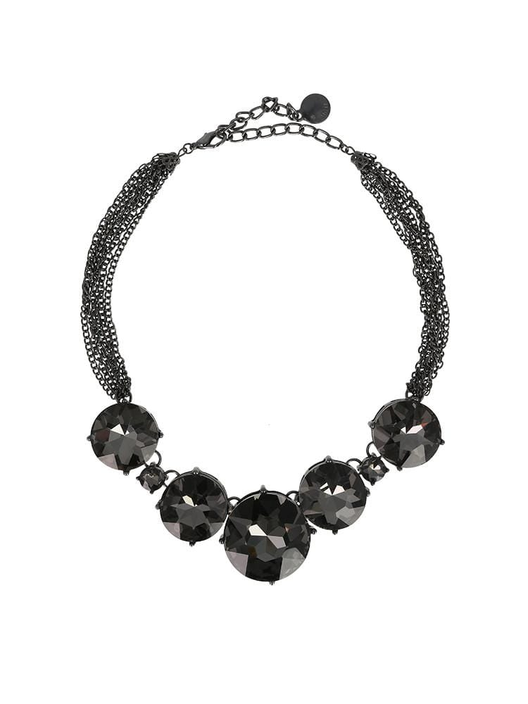 TURMALINA MAXX BLACK HEAVY CHAIN NECKLACE - HOUSE OF MAGUIE