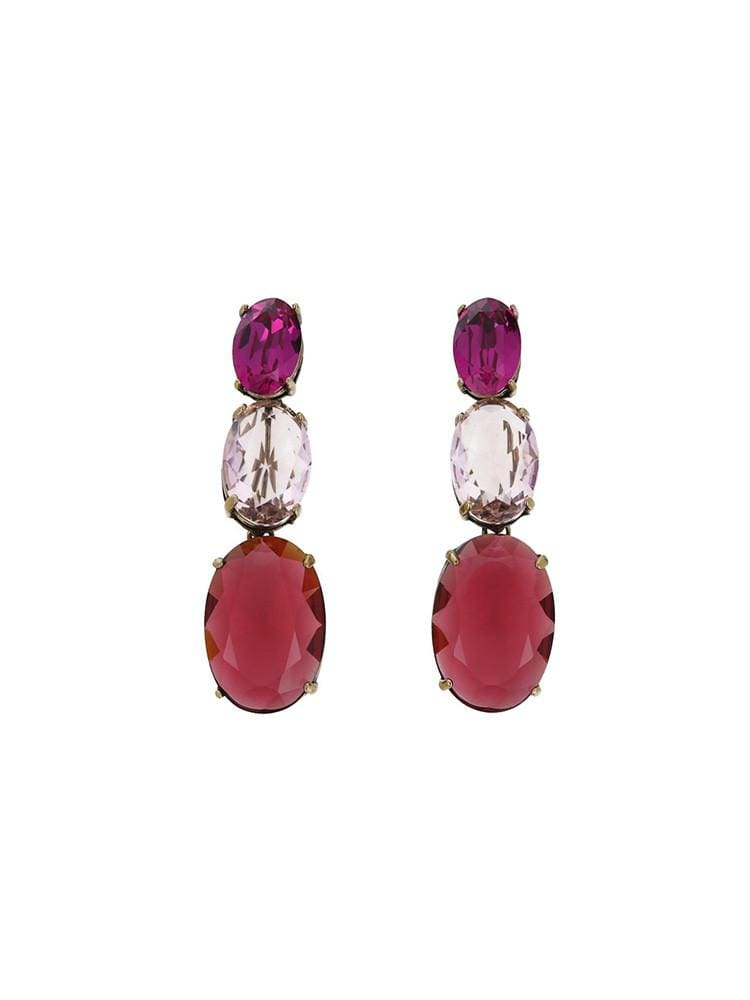 Hibis Oval Trio Pink Earrings - HOUSE OF MAGUIE