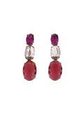 Hibis Oval Trio Pink Earrings