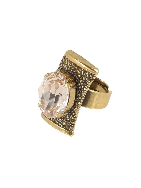 LOUDOVA AMBER SOLITAIRE SWAROVSKI® RING - HOUSE OF MAGUIE