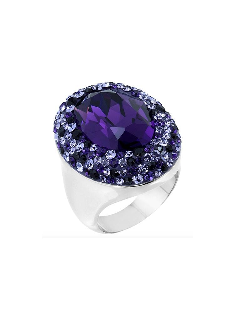 ALEEKA PURPLE CRYSTAL SWAROVSKI® CLUSTER RING - HOUSE OF MAGUIE