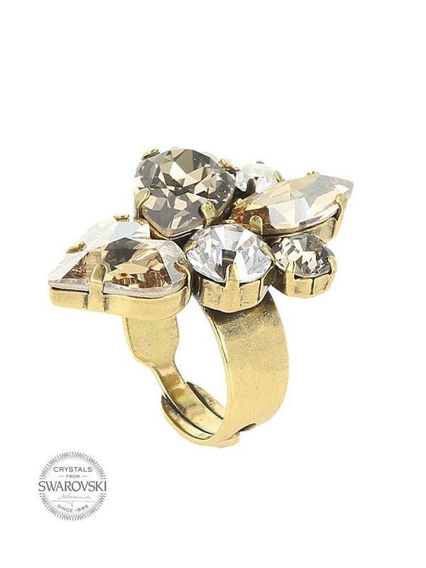 GRACE & LOVE MULTICOLOUR SWAROVSKI ELEMENTS CRYSTAL RING - HOUSE OF MAGUIE
