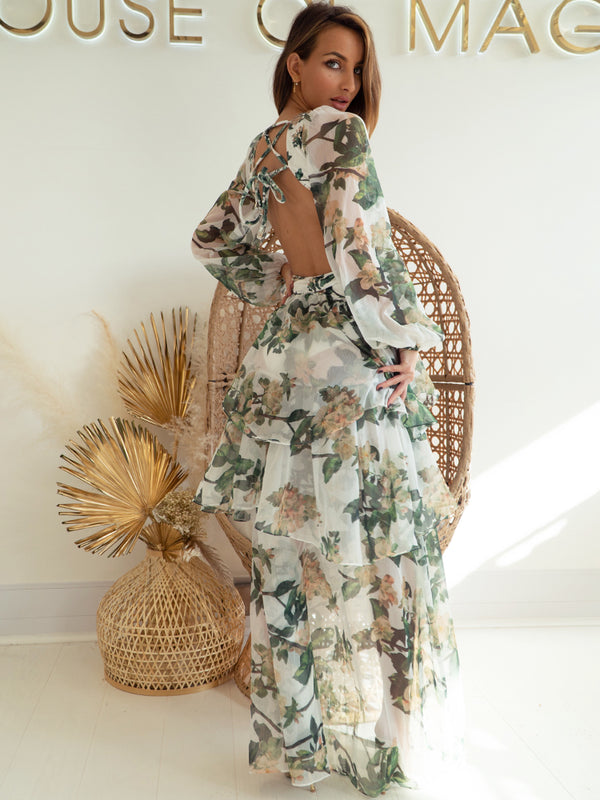 Floral Maxi Dress, Zara Floral Maxi Dress, Zara Spring Dresses 2021, Garden Party Dresses, Summer Maxi Dresses, Summer Occasion Maxi dress, Maxi Dress, Celebrity Boutique Maxi Dress