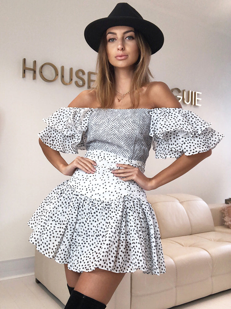 Polka Dot Dress, Wedding Guest Dress, Boho Dress, Bohemian Chic Dress, Vintage Summer Dress, Skater Dress, House Of CB Summer Dress, House Of Cb, Pretty Litle Thing, For Love and lemons, French Style Dress, Best Summer Dress 2020, Blogger Style Dress, Bohemian Chic Dress, Romantic Dress, Skater Summer Dress, Zara Dress,