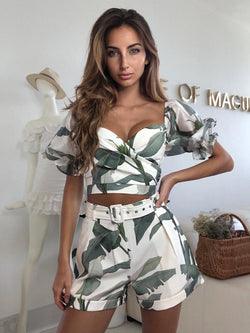 palm print co ords sets, short sets women, summer co ords, zara summer  summer co ords, zara print summer co ords,zara co ord, tailored zara co ord, gucci  zara co ord, best summer co ord short set, summer short set