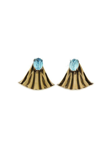 AKILAH AMBER ARTISAN MAXI EARRINGS