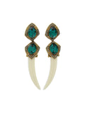 ESFINGE TEETH EARRINGS GREEN