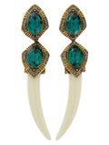 ESFINGE TEETH EARRINGS GREEN - HOUSE OF MAGUIE