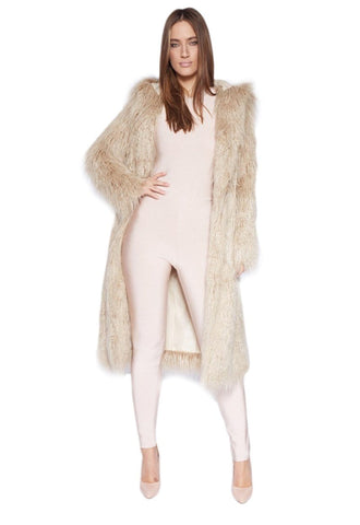 PROSECCO OVERSIZED VEGAN-FUR PREMIUM COAT