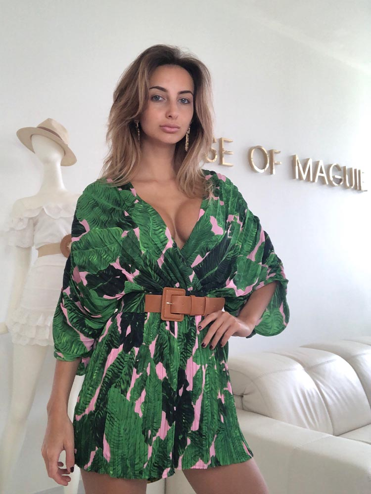 Tropical Playsuit, Palm Leaves Playsuit, Summer Playsuit, Summer Dress, Zara Palm Leaves Playsuit, Cheap Summer Dress, Dolce & Gabbana Palm Print Dress, Boho Playsuit, Boho Summer Style