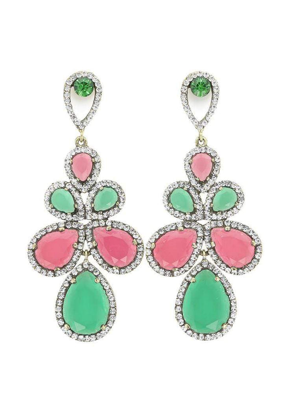 House of Maguie ACCESSORIES ONE SIZE / Green/Pink PAMELA SUELLEN FIESTA EARRINGS