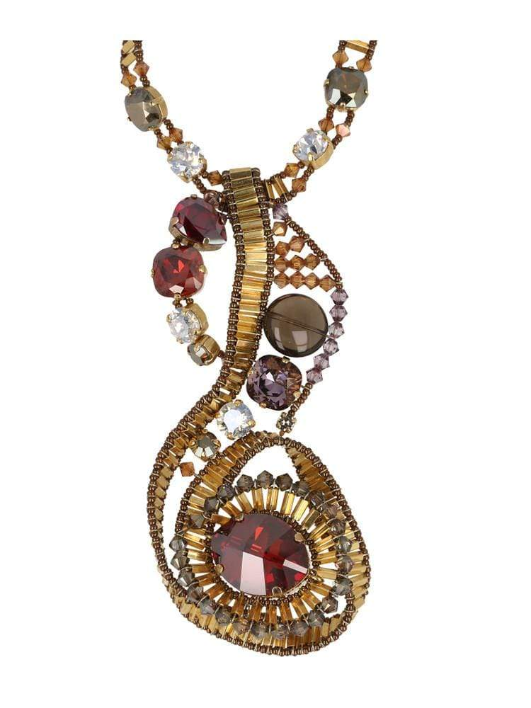 HOUSE OF MAGUIE  ACCESSORIES ONE SIZE SINFONICA SWAROVSKI NECKLACE