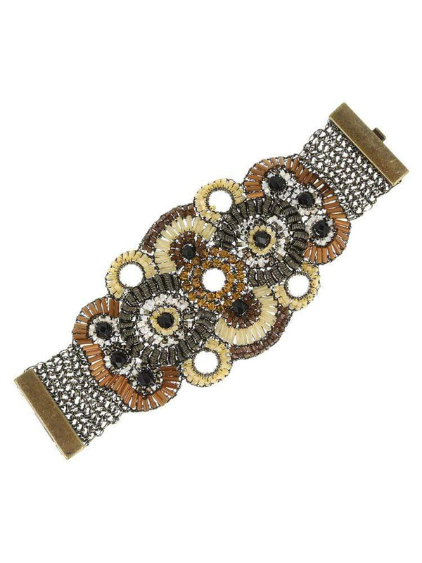 HOUSE OF MAGUIE BRACELETTE MASSAI HOT TOFFEE ARTISAN MAXI BRACELET