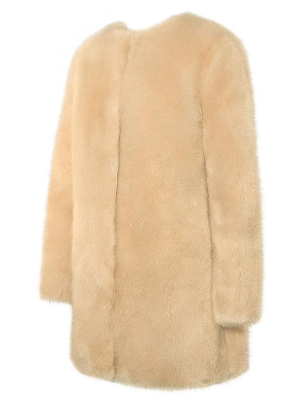 HOUSE OF MAGUIE JACKETS & COATS PROSECCO OVERSIZED VEGAN-FUR PREMIUM COAT