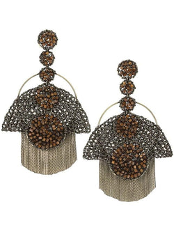 KIMORA AMBER ARTISAN MXI EARRINGS - HOUSE OF MAGUIE