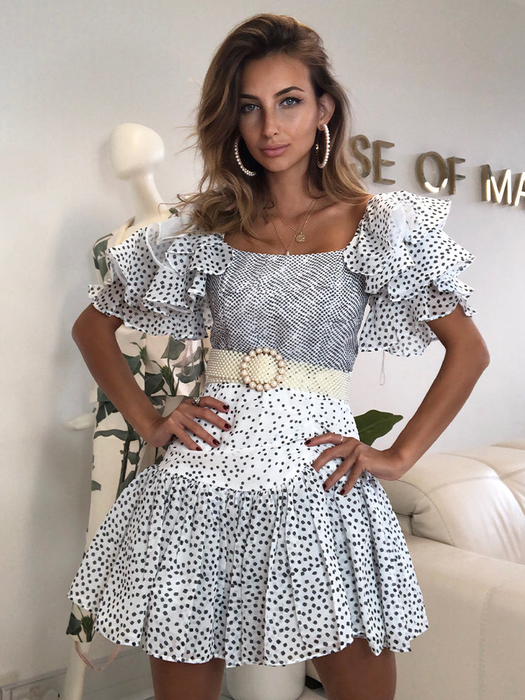 Polka Dot Dress, Wedding Guest Dress, Boho Dress, Bohemian Chic Dress, Vintage Summer Dress, Skater Dress, House Of CB Summer Dress, House Of Cb, Pretty Litle Thing, For Love and lemons, French Style Dress, Best Summer Dress 2020, Blogger Style Dress, Bohemian Chic Dress, Romantic Dress,