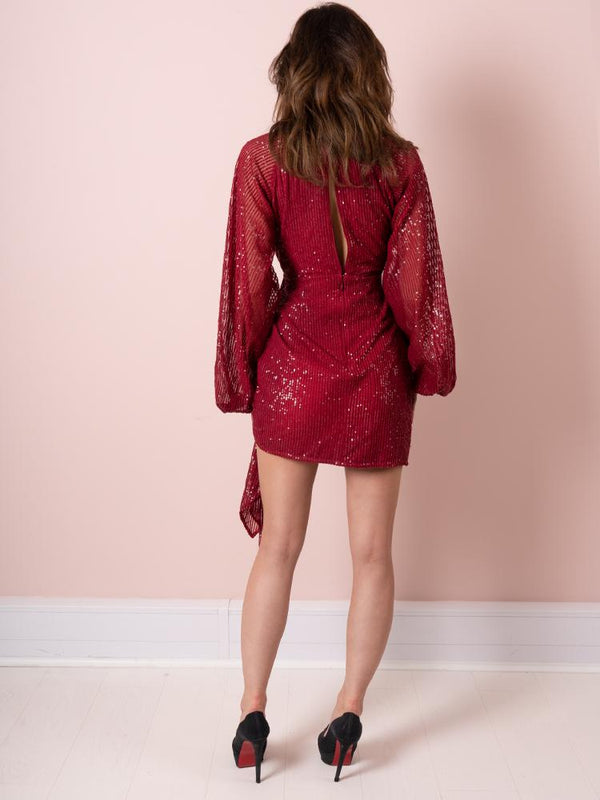 sexy dress, wrap dress, sequin dress, deep v dress, red dress, celeb boutique, red dress, Burgundy dress, valentines day dress, party dress, Christmas Dress, going out dress, wrap dress,