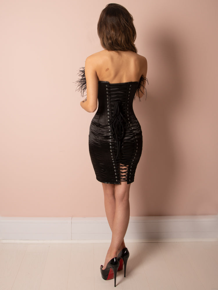 boutique, celeb boutique, black dress, corset dress, sexy dress, party dress