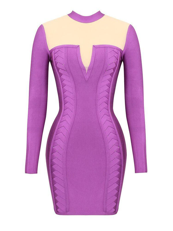 LILA PURPLE BRAIDED BODY CONTOUR B DRESS - HOUSE OF MAGUIE