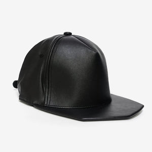 PHOBOS BLACK Leather Hat, hats - TAIKORA