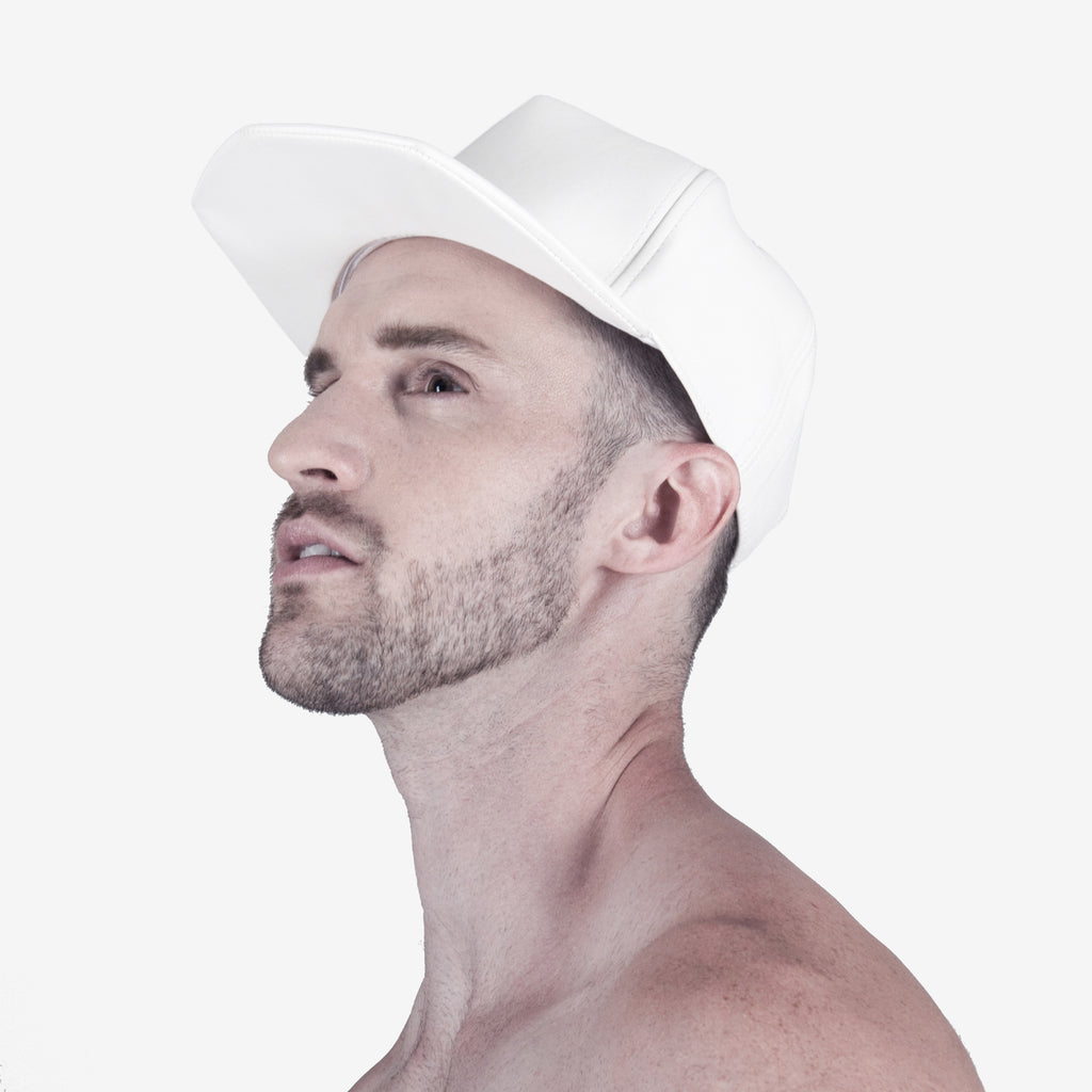 PHOBOS WHITE Leather Hat, hats - TAIKORA