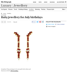 Telegraph Luxury - Ruby - Seraphina Wing Earrings