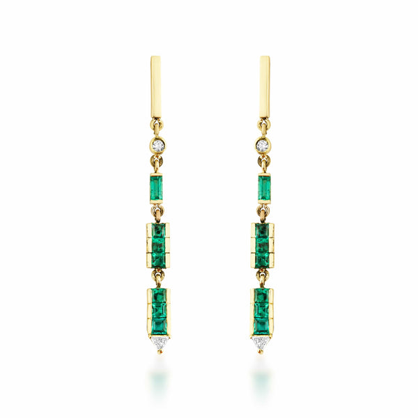 GFG Jewellery Earrings Artisia Bar Emerald Earrings