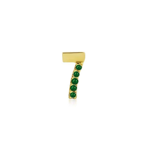 GFG Jewellery Earrings Numerology Earring 7 - Emerald