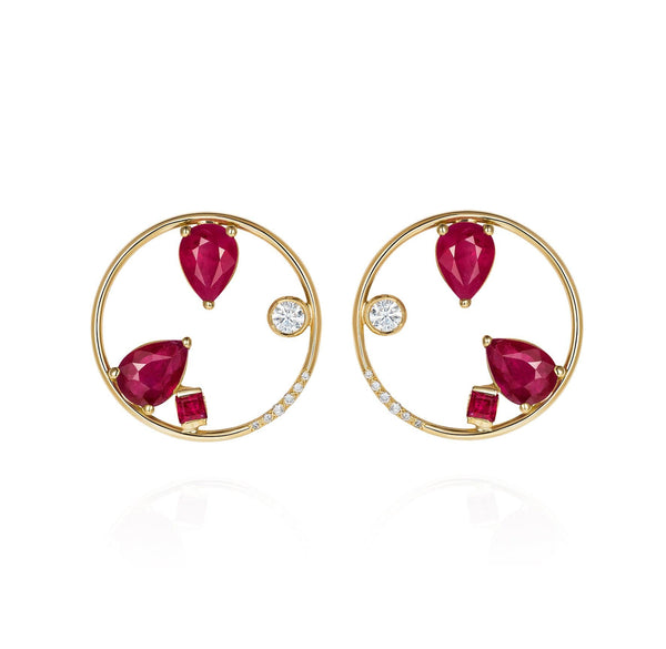 GFG Jewellery Earrings Project 2020 Ruby Earrings