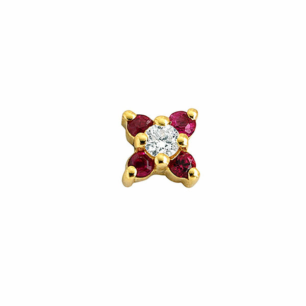 GFG Jewellery Earrings Seraphina Ruby Earring - Single