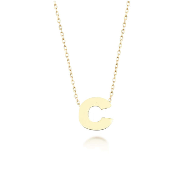 GFG Jewellery Necklace Alpha Charm Necklace - Letter C