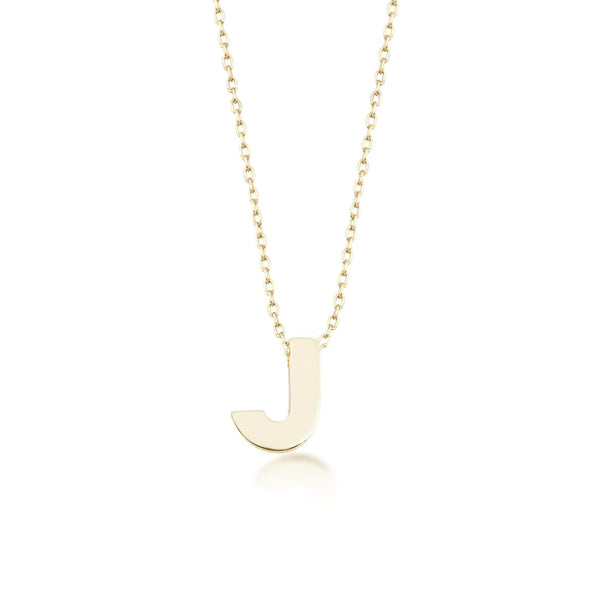 GFG Jewellery Necklace Alpha Charm Necklace - Letter J