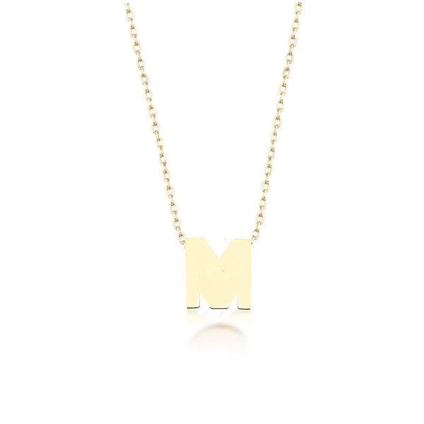 GFG Jewellery Necklace Alpha Charm Necklace - Letter M