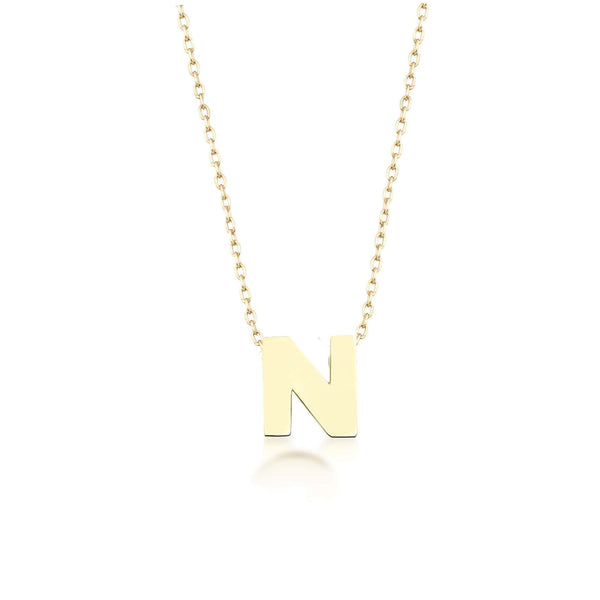 GFG Jewellery Necklace Alpha Charm Necklace - Letter N