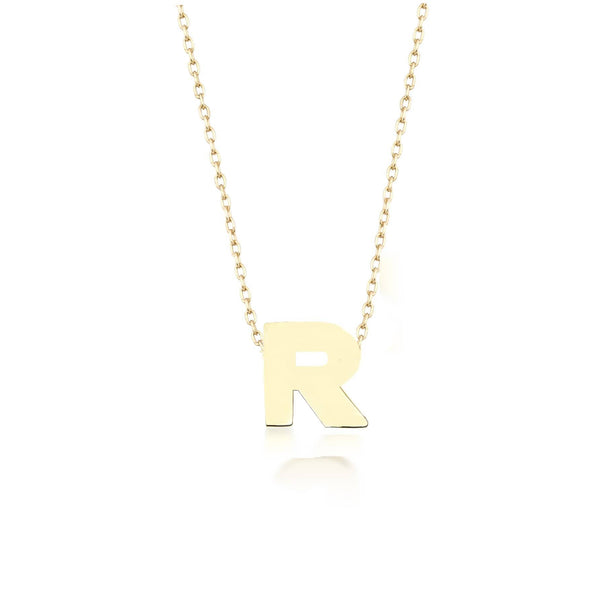 GFG Jewellery Necklace Alpha Charm Necklace - Letter R