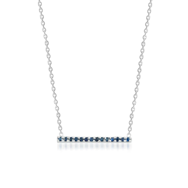 GFG Jewellery Necklace Claire Bar Necklace (Blue Sapphires)