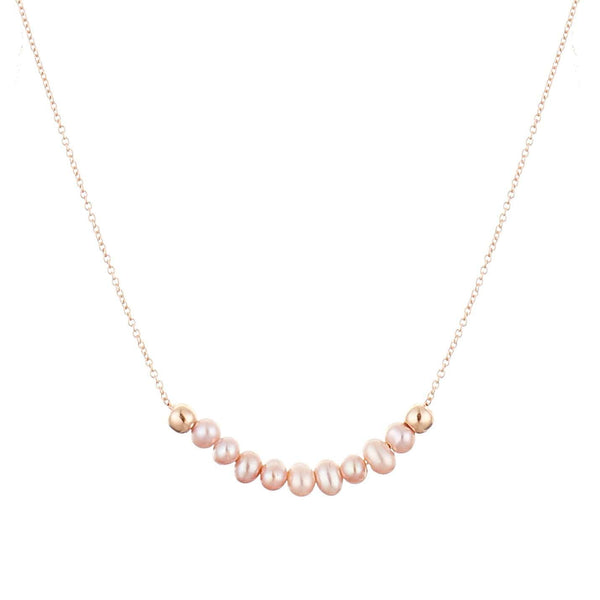GFG Jewellery Necklace Ellie Pearl Necklace - Rose