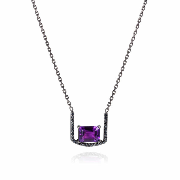 GFG Jewellery Necklace Noir Amethyst Throne Necklace