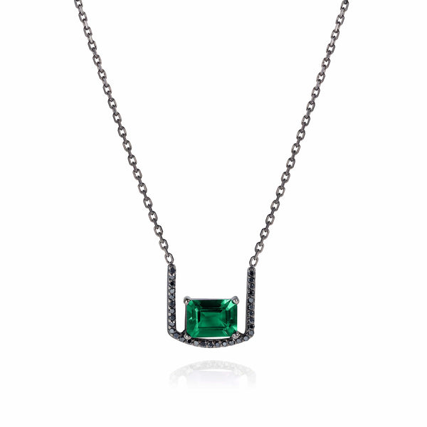 GFG Jewellery Necklace Noir Emerald Throne Necklace