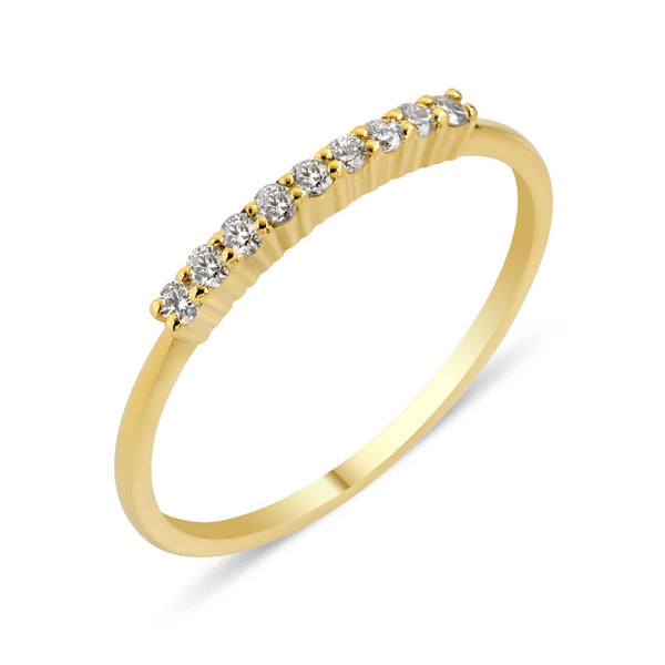 GFG Jewellery Rings Lara Bar Ring - Diamonds