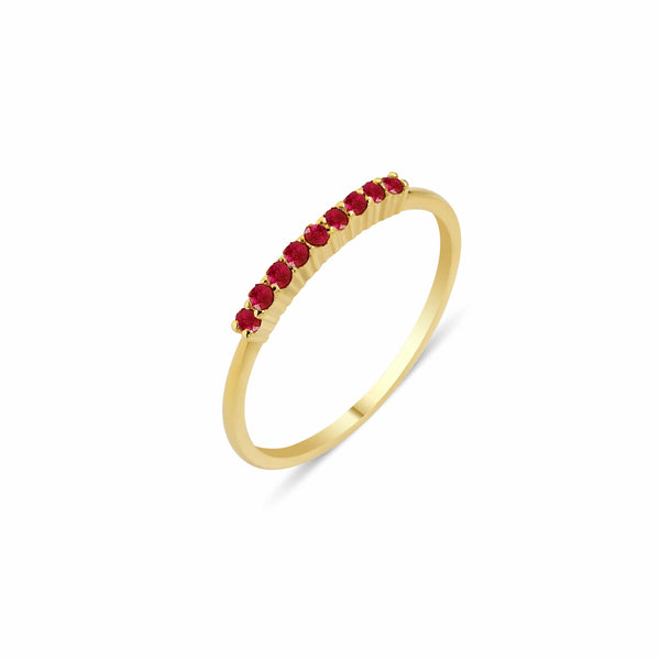 GFG Jewellery Rings Lara Bar Ring - Ruby