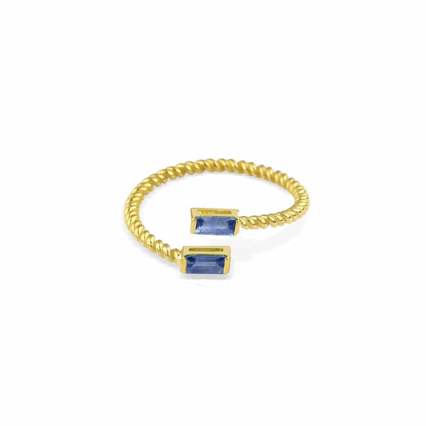 GFG Jewellery Rings Lara Double Twist Sapphire Ring