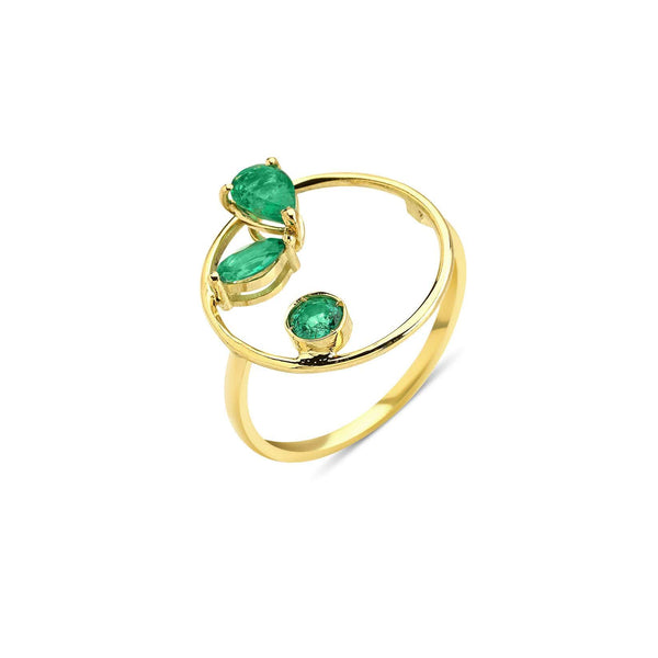 GFG Jewellery Rings Project 2020 Emerald Ring