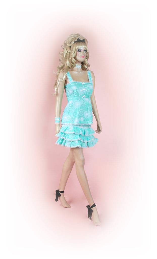 Sky Blue<br>Dream Anglaise Frilly Mini